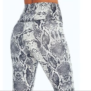Marika black snake leggings, soft and they stay up